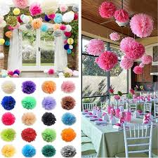 Tissue Balls Party Decorations Details about 100pcs Tissue Paper Poms Flower Ball Wedding Party 11