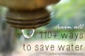 water conservation tips ways to save water sustainable  110 ways to save water by com