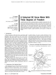 pdf a spherical dc servo motor with three degrees of freedom