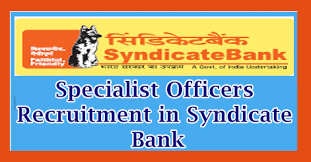 Syndicate Bank Specialist Officers Recruitment In Syndicate Bank 129 Posts