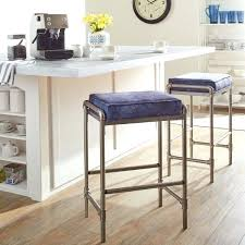 pipe bar stools industrial blooms pipe blue diy steel pipe bar stool