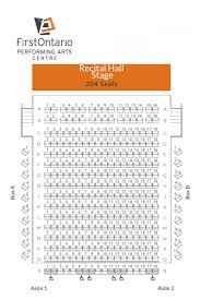 Seating Chart First Ontario Centre View Seat Maps For All Venues At The Firstontario Performing