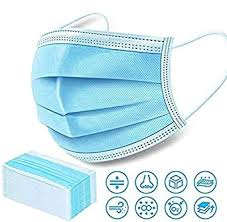 <b>100 PCS Surgical Face Masks</b> 3 Ply - 3 Layers - Sealed Bag ...
