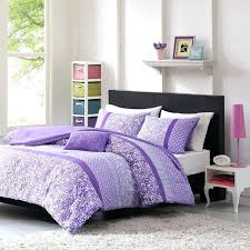 teen girl comforter sets purple lavender lilac bedding flower paisley polka dot design with embroidered pillow