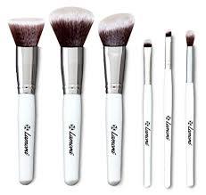 makeup brushes with powder. powder make up brush set - essential 6pc travel kit with kabuki eyeshadow foundation blush brushes: amazon.co.uk: beauty makeup brushes f