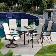 72 x 42 inch rectangle outdoor patio dining table with glass top and umbrella hole