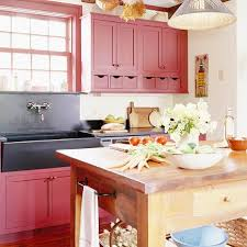 Plain Red Country Kitchens Are Sometimes Casual But Always Bold To Creativity Ideas