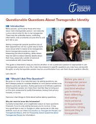 Equality Center About Transgender Questionable For Identity Questions National