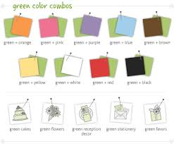 What Color Match With Green Amazing Design 4 Wedding Colors Ideas.