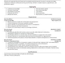 Security Guard Resume Objective here are security guard resume sample goodfellowafbus 29