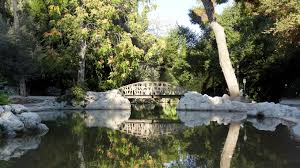 the central pond with the wooden bridge national garden of athens