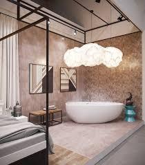 Bathroom: Modern Bathtub With Shower Design - Bathtub