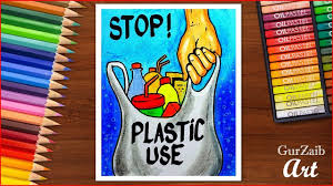 How To Make Chart On Pollution How To Draw Stop Plastic Pollution Poster Chart For School