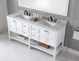 White Bathroom Vanity Cabinet Virtu Usa Winterfell 72 Bathroom Vanity Cabinet In White