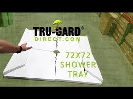 72 x 72 pre sloped shower tray trugard direct shower base overview