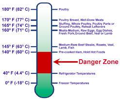 Temperature Danger Zone Chart