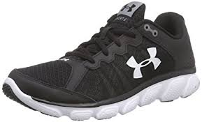 under armour men s shoes. under armour men\u0027s micro ga assert 6 black and white running shoes - 10 uk/ men s r