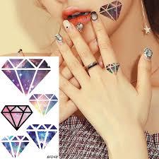 Flash Galaxy Diamond Temporary Tattoo Stickers Women Body Art Finger
