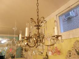 vintage brass chandelier with crystals antique brass bronze chandelier vintage crystal we can find one a bit bigger antique brass crystal chandelier made in