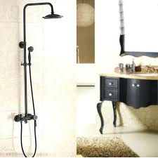 handheld shower glen oil rubbed bronze wall mounted rainfall shower head with handheld shower tub spout