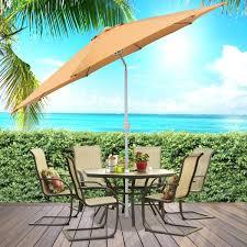 patio umbrella with netting 7 foot patio umbrella hd image