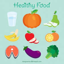 Pictures of colorful salad ingredients will fill the screen. Free Vector Healthy Foods For Good Nutrition