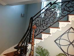 amazing wrought iron railing for home decor ideas interior paint color and wall lighting with