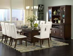 White Leather Dining Room Chairs - Modern wood dining room sets
