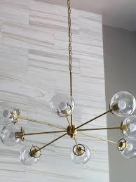 diy modern brass chandelier tooiy