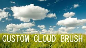 Photoshop Cs6 Custom Cloud Brush Youtube