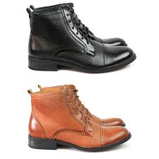 details about new men s black brown ferro aldo dress high top boots cap toe leather lining