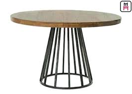metal base dining table commercial metal table bases for wood tops round dining table metal base