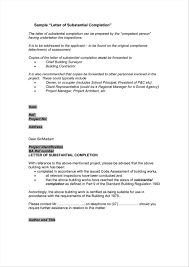 Best Ideas Of Letter Of Substantial Completion Template On Practical