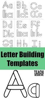 Templates Alphabet Letters Preschool Alphabet Letter Building Templates Teach Beside Me