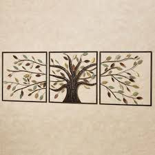 Ever Changing Brown Tree Metal Wall Art Set Within Tree Sculpture Wall Art  (Image 5