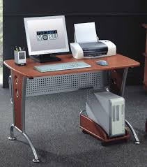 Really Simple Computer Desk Design For Home Made Of Wood And Aluminum