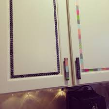 Washi Tape Kitchen Cabinets Washi Tape Kitchen Cabinets Cheap And Easy Rental Diy Diy