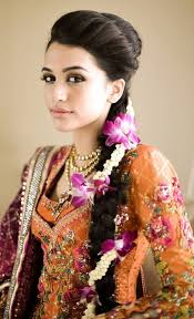 bridal hairstyle dulhan fashion dress in the present