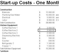 Startup Cost Template Financial Plan Template For Startup Business Startup