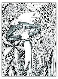 Coloring Pages For Adults Printable Free Adult Color Page Mushroom