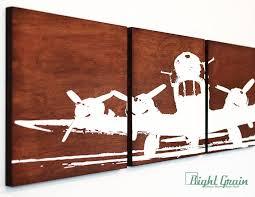 airplane wall art on dark woodgrain airplane screenprint in custom colors on color planes wall art with airplane wall art on dark woodgrain airplane by rightgrain art