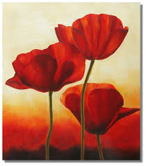 red dancing poppy ii painting on canvas