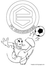 Kleurplaat Donald Duck Met Taart Fc Groningen Donald Duck Kleurplaat