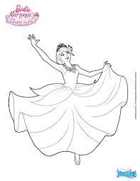 Colorie Barbie Dans Sa Magnifique Robe De Princesse Un Coloriage