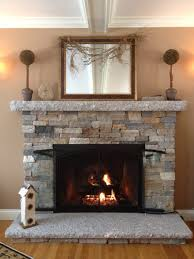 Impressive Fireplace With Stone Veneer Cool Gallery Ideas