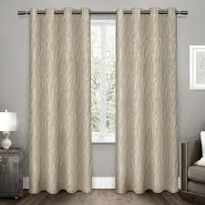 forest hill natural woven grommet top window curtain