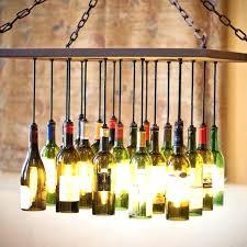 glass bottle chandelier bottles