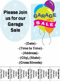Garage Sale Flyer Template Word Moving Sale Flyer Template