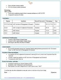 Mba Finance Fresher Resume Samples | Free Resumes Tips
