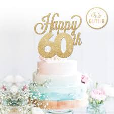 Decorations Cake Toppers Baking Accs Cake Decorating Happy 60th